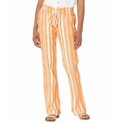 ロキシー レディース カジュアルパンツ ボトムス Oceanside Pants Yarn-Dye Golden Ochre Ja