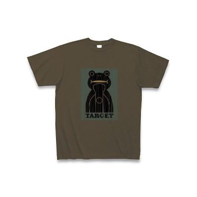 カエルのターゲット Tシャツ Pure Color Print(オリーブ)