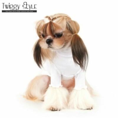 犬 犬服 ドッグウェア 秋 冬 シンプル タートルネック     ウェーブタートルネックTシャツホワイト