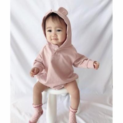 Si・Shu・Non シシュノン 子供服 21春 フードツキロンパース sn35291513
