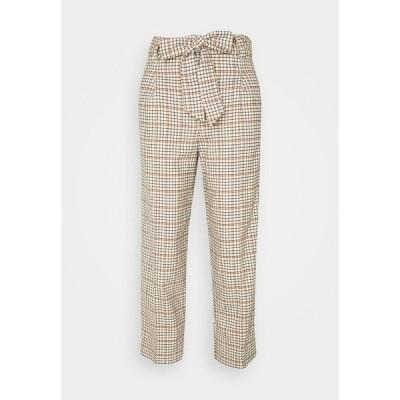 マイン トゥ ファイブ トム テイラー カジュアルパンツ レディース ボトムス PANTS STRAIGHT PLEATED - Trousers - beige
