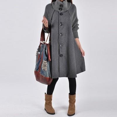 ロングコート コート アウター レディース 秋冬 無地 暖かい ファッション 長袖