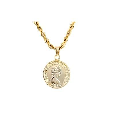 入浴時でも外すことなく使える SOPHIE コイン ネックレス 45cm ゴールド フレンチロープ