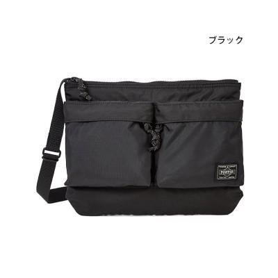 【カバンのセレクション】 吉田カバン ポーター フォース ショルダーバッグ サコッシュ メンズ レディース ミリタリー A5 PORTER 855−05458 ユニセックス ブラック フリー Bag&Luggage SELECTION