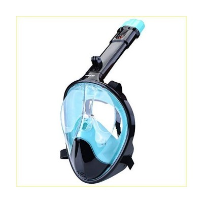 WANFEI Full Face Snorkel Masks Dive Mask Underwater Snorkeling Mask Sets for Kids and Adults Upgraded Breathing System Diving Mask 180° Pan