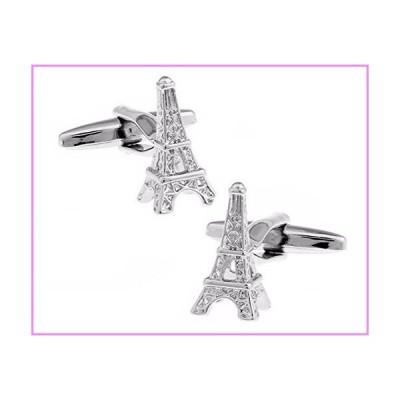 【送料無料】V G S Eternity Fashions Fashion Jewelry ~Silver tone Eiffel Cufflinks【並行輸入品】