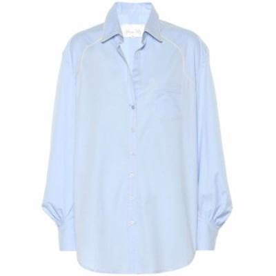 ジョアンナオッティ Johanna Ortiz レディース ブラウス・シャツ トップス Heaven's Door poplin shirt Men's Blue
