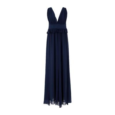 PINKO UNIQUENESS ロングワンピース&ドレス ダークブルー 44 コットン 78% / シルク 22% ロングワンピース&ドレス