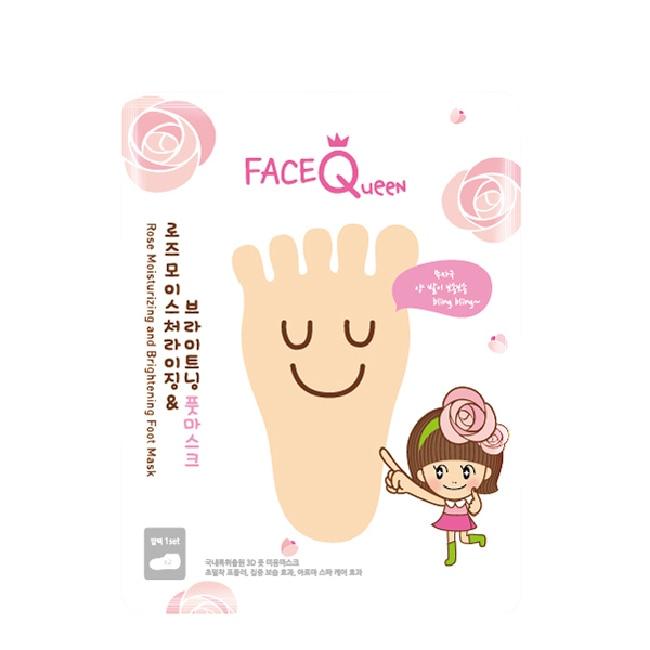 FaceQueen 玫瑰粉嫩白護足膜1入