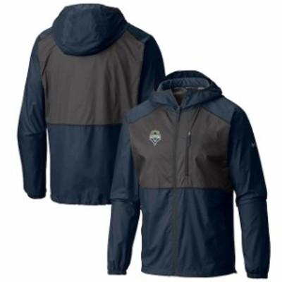 Columbia コロンビア スポーツ用品  Columbia Seattle Sounders FC Navy Flash Forward Full-Zip Windbreaker Jacket