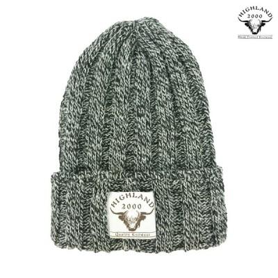 帽子 HIGHLAND2000 4×4 リブニットキャップ ハイランド2000 メンズ レディース ユニセックス [カラー] ブラック×ホワイト