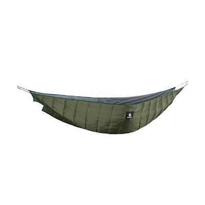 OneTigris ハンモック式寝袋 2人用 冬タイプ ハンモックに取り付け アンダーキルト 防寒用 キャンプ (グリーン)