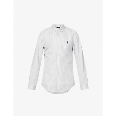 ラルフ ローレン POLO RALPH LAUREN メンズ シャツ スキニー・スリム スリム トップス Striped slim-fit cotton shirt GREY WHITE