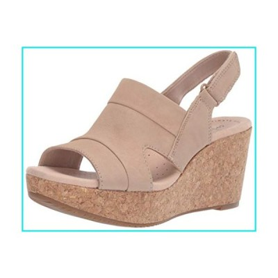 Clarks Women's Annadel Ivory Wedge Sandal, Sand Nubuck, 080 M US【並行輸入品】