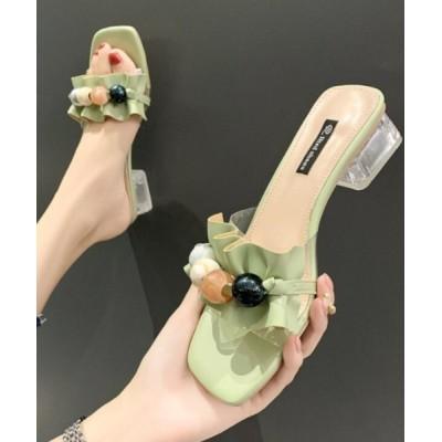 ZealMarket/SFW / ギャザーサンダル 脚がきれいに見える 3cmミュール WOMEN シューズ > サンダル