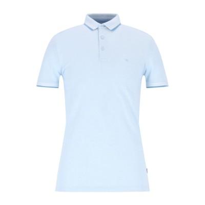 WRANGLER ポロシャツ スカイブルー S コットン 100% ポロシャツ