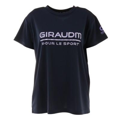 GIRAUDMアウトドアTシャツ 半袖 ドライ 吸汗速乾 UVカット メッシュシャツ 864GM1CD6674 NVYネイビー