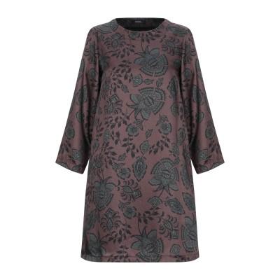 アルファスタジオ ALPHA STUDIO ミニワンピース&ドレス ダークブラウン 40 ポリエステル 100% ミニワンピース&ドレス