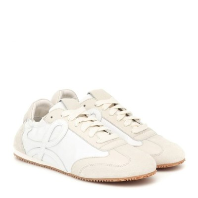 ロエベ Loewe レディース スニーカー シューズ・靴 ballet runner leather and suede sneakers White/Off-White