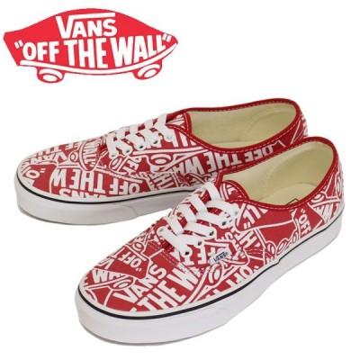 VANS (ヴァンズ バンズ) VN0A38EMUKL Ua Authentic オーセンティック スニーカー (Otw Repeat) Red/True White VN045