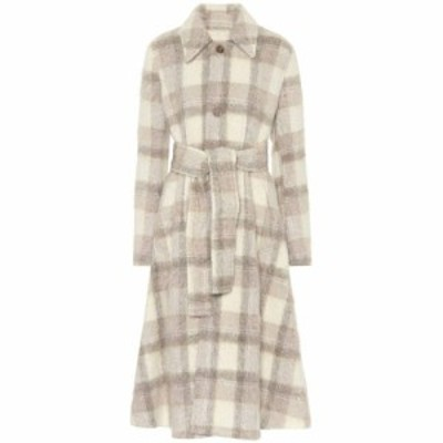 アクネ ストゥディオズ Acne Studios レディース コート アウター Wool-blend checked coat White/Grey