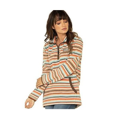 HOOEY Women's Stripe Zip Pullover Multi Medium並行輸入品 送料無料