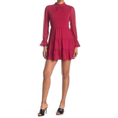 ロウエー レディース ワンピース トップス Tiered Ruffle Dress RED
