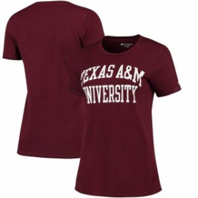 Champion チャンピオン スポーツ用品  Champion Texas A&M Aggies Womens Maroon University T-Shirt