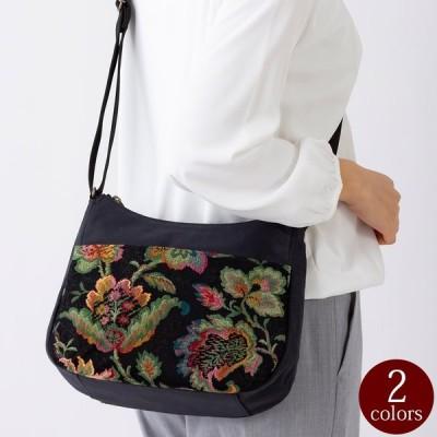 日本製 ゴブラン織り ショルダーバッグ レディース 女性