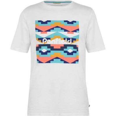 ペンフィールド Penfield メンズ Tシャツ トップス Sandtoft T Shirt White
