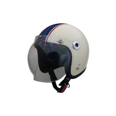 リード工業 BC10 スモールジェットヘルメット アイボリー/ネイビー