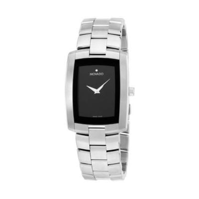Movado モバード Eliro 29 ミリ ブラック ダイヤル ステンレス クォーツ カジュアル メンズ 腕時計 0605377