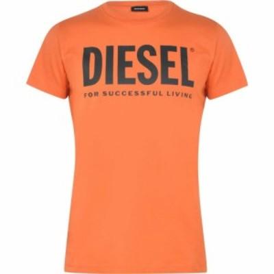 ディーゼル Diesel メンズ Tシャツ ロゴTシャツ トップス Logo Tee Orange L