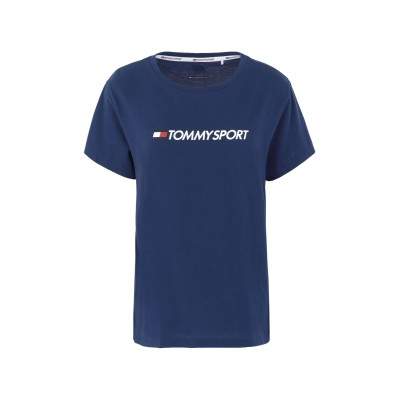 TOMMY SPORT T シャツ ブルー L コットン 60% / ポリエステル 40% T シャツ