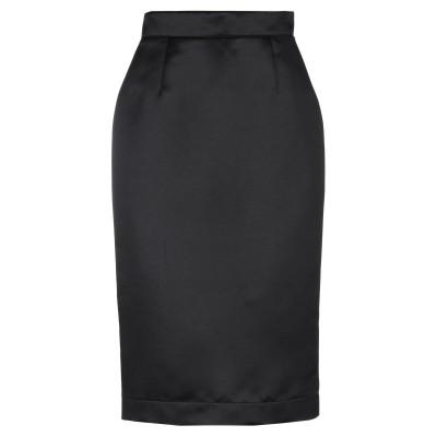 BROGNANO 7分丈スカート ブラック 42 ポリエステル 100% 7分丈スカート
