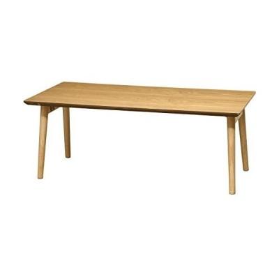 ottostyle.jp 木製折りたたみテーブル 90×45×35cm <アッシュ> センターテーブル (アッシュ 90×45×35cm)