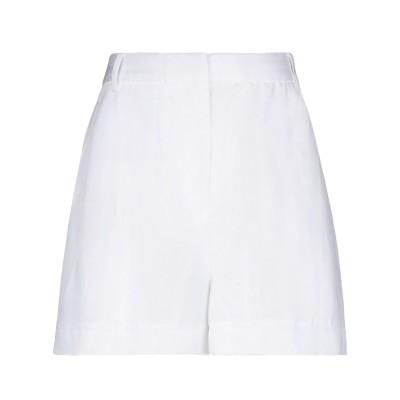 ティビ TIBI ショートパンツ ホワイト 4 テンセル 100% ショートパンツ