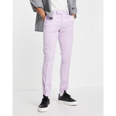 エイソス ASOS DESIGN メンズ ジョガーパンツ スキニー ボトムス・パンツ Skinny Smart Jogger In Lilac ライラック