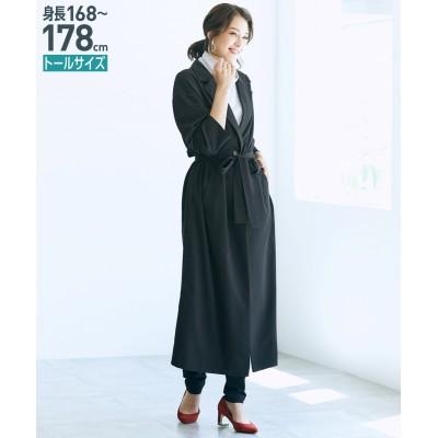 トールサイズ テーラードマキシ丈ライトコート(共布ベルト付) 【高身長・長身】コート, tall size, Coat