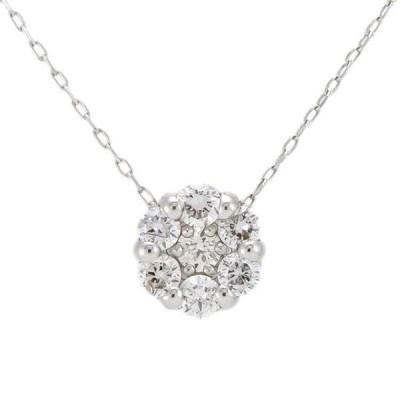 Pt900 プラチナ チェーン Pt850 ダイヤモンド 0.20ct ネックレス フラワー 6EPU4547980-KI 天然石