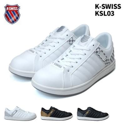 K-SWISS メンズスニーカー ケースイス KSL 03 ホワイト ブラック ブラックゴールド 19SS01