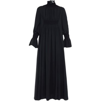 ケンゾー KENZO ロングワンピース&ドレス ブラック 38 ポリエステル 100% ロングワンピース&ドレス