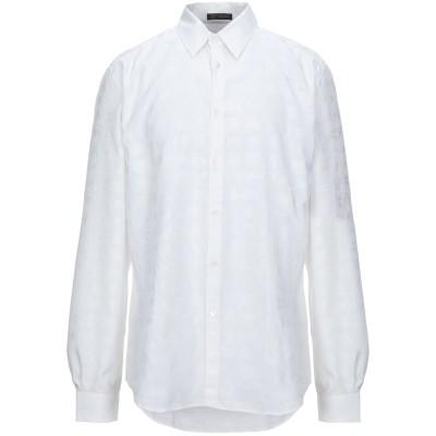 VERSACE シャツ ホワイト 37 コットン 66% / シルク 34% シャツ