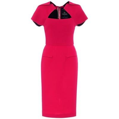 ローラン ムレ Roland Mouret レディース パーティードレス ワンピース・ドレス myrtha wool-crepe dress Scarlett Red