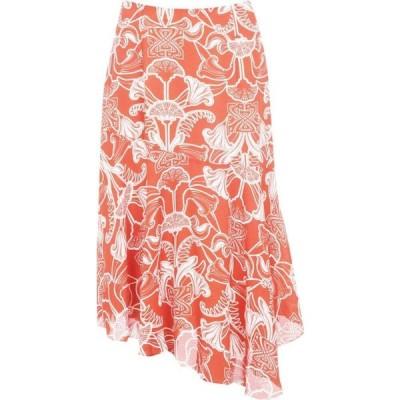 ビバ Biba レディース ひざ丈スカート スカート Asymmetric Midi Skirt Orange/Ivory