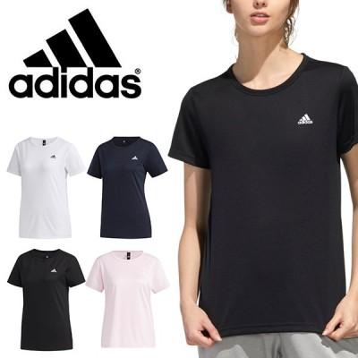 ゆうパケット対応可能!半袖 Tシャツ アディダス adidas レディース W MH ワンポイント Tシャツ ランニング ジョギング ウェア ジム 2021春新色 GUN76