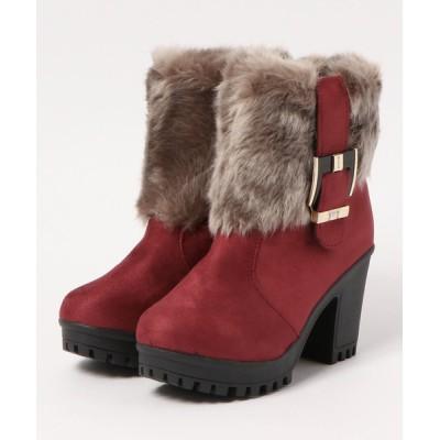 STYLEBLOCK / ファー付きショートブーツ WOMEN シューズ > ブーツ