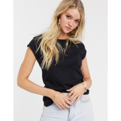 リバーアイランド レディース Tシャツ トップス River Island short sleeve t-shirt in black Black