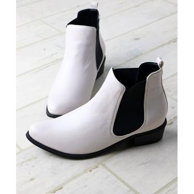 ZealMarket/SFW / 美シルエット、やわらかい履き心地 美脚サイドゴアブーツ WOMEN シューズ > ブーツ