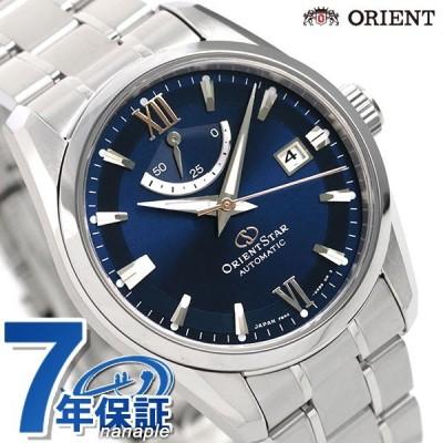 19日は+7倍でポイント最大22倍 オリエントスター コンテンポラリー 38.5mm 日本製 自動巻き RK-AU0005L ORIENT STAR メンズ 腕時計 ネイビー
